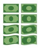 Sistema de papel colorido del vector del billete de banco stock de ilustración