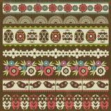 Sistema de papel de cordón con la flor y los huevos de Pascua, vector stock de ilustración