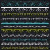 Sistema de papel de cordón, frontera, marco, vector stock de ilustración