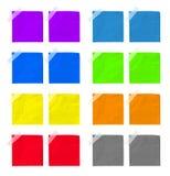 Sistema de papel de la nota Foto de archivo libre de regalías