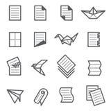 Sistema de papel del icono Imagen de archivo libre de regalías