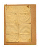 Sistema de papeles viejos y de la postal archivales del vintage aislada Imagen de archivo