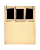 Sistema de papeles viejos y de la postal archivales del vintage aislada Foto de archivo