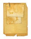 Sistema de papeles viejos y de la postal archivales del vintage aislada Imagen de archivo libre de regalías