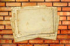 Sistema de papeles y de la postal archivales viejos del vintage Foto de archivo