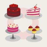 Sistema de pasteles de bodas Fotografía de archivo