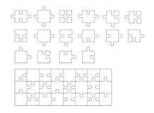 Sistema de pedazos del rompecabezas Imagen de archivo libre de regalías