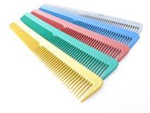 Sistema de peines coloridos fotografía de archivo libre de regalías