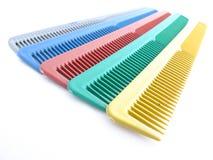 Sistema de peines coloridos foto de archivo