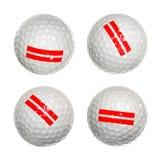 Sistema de pelotas de golf Fotos de archivo libres de regalías