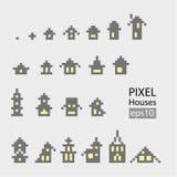 Sistema de pequeño edificio del pixel Foto de archivo libre de regalías