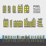 Sistema de pequeño edificio del pixel Imagen de archivo libre de regalías