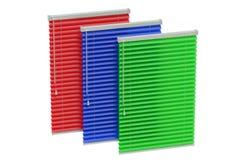 Sistema de persianas coloreadas Fotografía de archivo libre de regalías