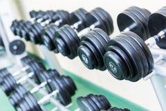 Sistema de pesas de gimnasia imagen de archivo