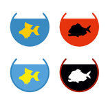 Sistema de pescados del acuario Goldfish en un acuario El pescado satisface el DES Imágenes de archivo libres de regalías