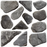 Sistema de piedras grises Fotos de archivo libres de regalías