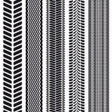 Sistema de 5 pisadas del neumático. Textura inconsútil. Foto de archivo libre de regalías