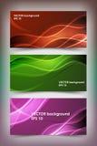 Sistema de plantillas coloreadas de la bandera fotografía de archivo libre de regalías