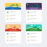 Sistema de plantillas con diseño de interfaz de usuario stock de ilustración