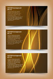Sistema de plantillas de la bandera del oro Imagen de archivo
