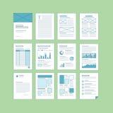 Sistema de plantillas de la documentación del negocio A4 ilustración del vector