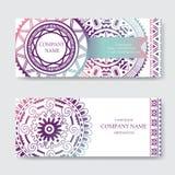 Sistema de plantillas de la tarjeta de visita o de la tarjeta de la invitación Foto de archivo libre de regalías