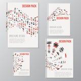 Sistema de plantillas del diseño de la cubierta del folleto del vector con Fotografía de archivo libre de regalías