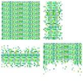 Sistema de 4 plantillas del pixel para su diseño Foto de archivo