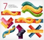 Sistema de plantillas infographic de la raya libre illustration