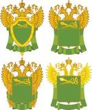 Sistema de plantillas rusas genéricas del emblema de las aduanas Fotos de archivo
