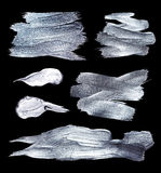 Sistema de plata del ejemplo del hierro Movimiento brillante del cepillo para usted proyecto de diseño asombroso libre illustration