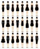 Sistema de pocos vestidos negros Fotos de archivo libres de regalías