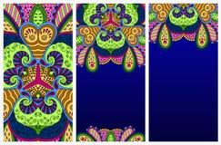 Sistema de postales decorativas coloridas Foto de archivo libre de regalías