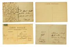 Sistema de postales viejas Fotografía de archivo