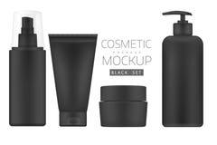 Sistema de productos cosméticos en un fondo blanco ilustración del vector