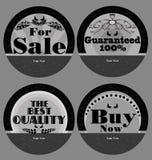 Sistema de productos de la etiqueta del vintage Imágenes de archivo libres de regalías