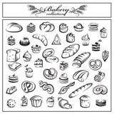 Sistema de productos del pan y de la panadería libre illustration