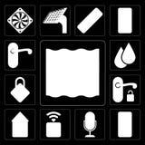 Sistema de profundamente, hogar elegante, control de la voz, zócalo, hogar, manija, Lo ilustración del vector
