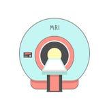 Sistema de proyección de imagen médica azul y rojo Foto de archivo libre de regalías