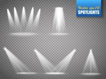 Sistema de proyectores del vector Luz de la etapa en transparente ilustración del vector