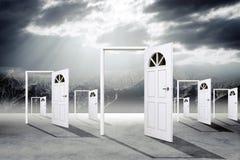 Sistema de puertas abiertas foto de archivo libre de regalías