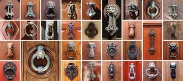 Sistema de 31 puertas viejas Fotos de archivo libres de regalías