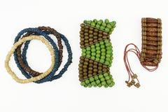 Sistema de pulseras de madera Imagen de archivo
