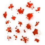 Sistema de puntos de sangre Imagen de archivo