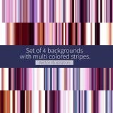 Sistema de rayas coloreadas multi Imágenes de archivo libres de regalías
