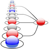 Sistema de rede abstrato das conexões da tecnologia Imagem de Stock Royalty Free