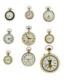 Sistema de relojes del vintage Fotos de archivo