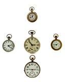 Sistema de relojes del vintage Fotografía de archivo