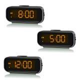 Sistema de relojes digitales con momento diferente Foto de archivo libre de regalías