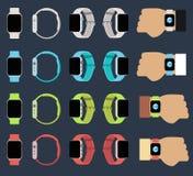 Sistema de relojes elegantes nuevos Imagen de archivo libre de regalías
